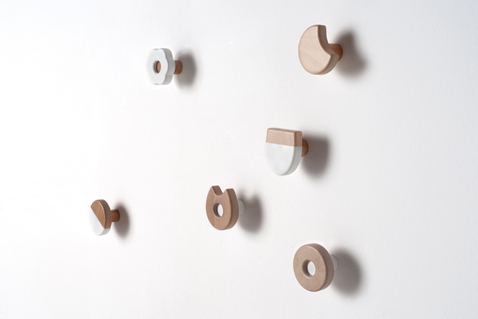 Frolle wall hangers by andrea brugnera design for Brugnera mobili