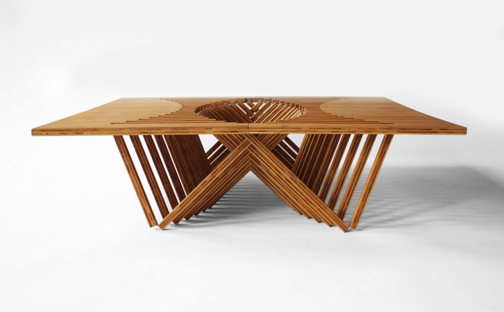 rising table by robert van embricqs design