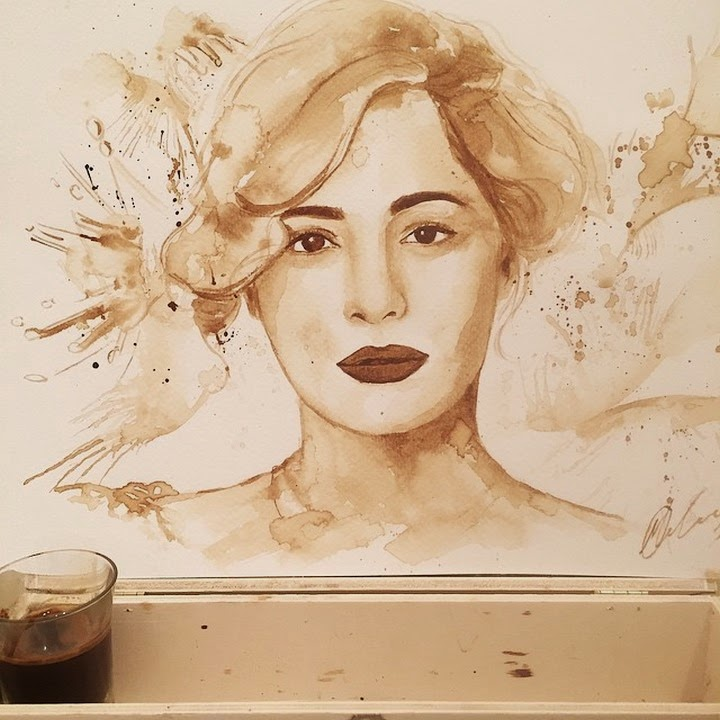 Incredible Coffee Paintings By Maria Aristidou Design