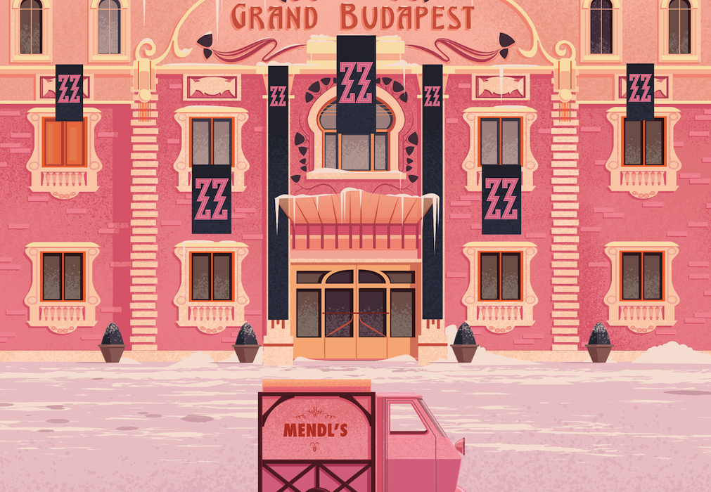 Grand Budapest Hotel Wallpaper: Grand Budapest Hotel By James Gilleard