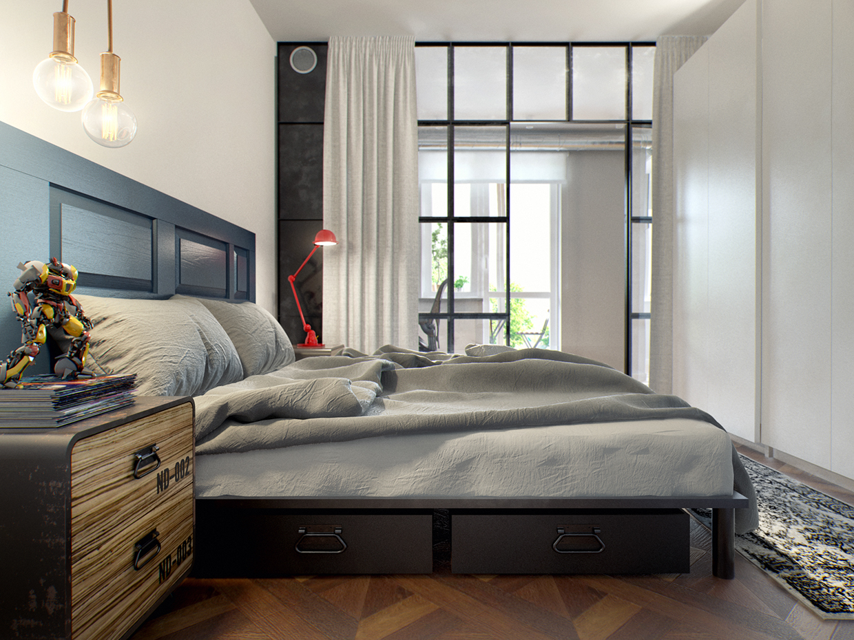 Blend interior atmosphere in minsk by int2 architecture - Petite chambre a coucher design ...
