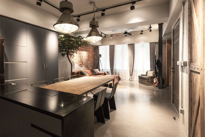Taipei-Taiwan-apartment-with-interior-design-based-on-industrial-style
