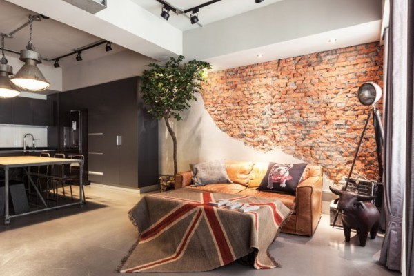 Taipei-apartment-interior-design-based-on-industrial-and-vintage-style