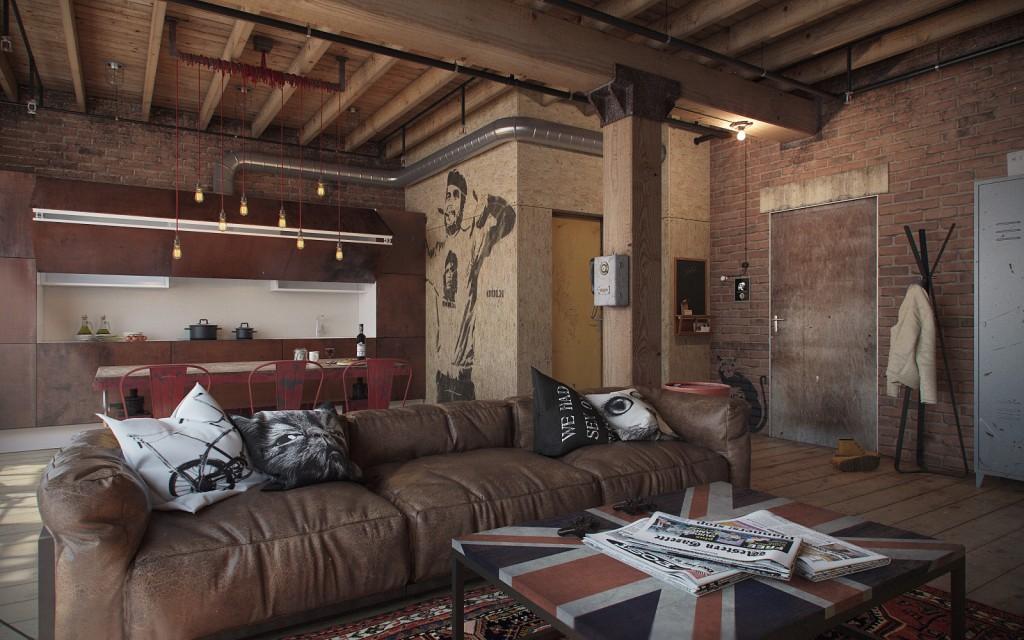 Den-Loft-Chic-loft-style-studio-by-Nordes-1-1024x640