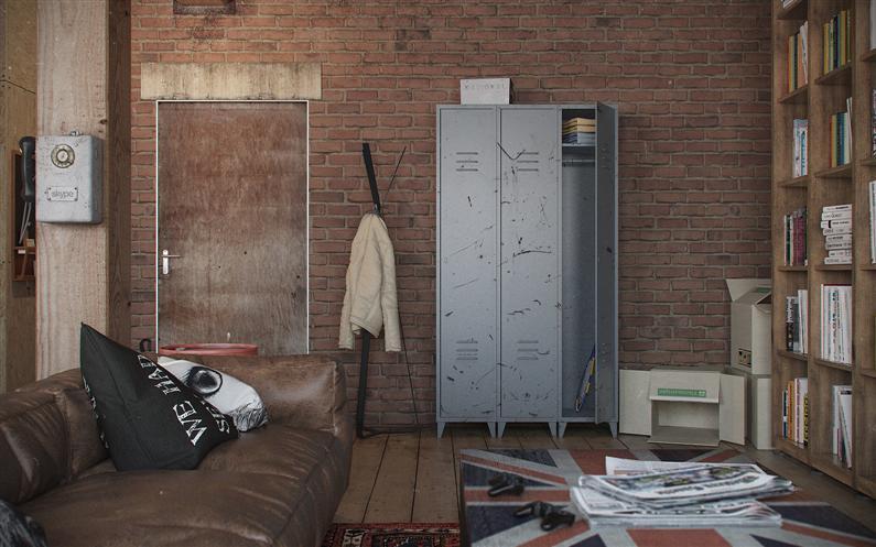 Den-Loft-Chic-loft-style-studio-by-Nordes-10-Custom