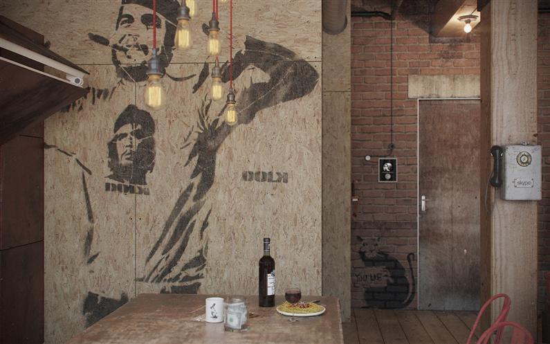 Den-Loft-Chic-loft-style-studio-by-Nordes-11-Custom
