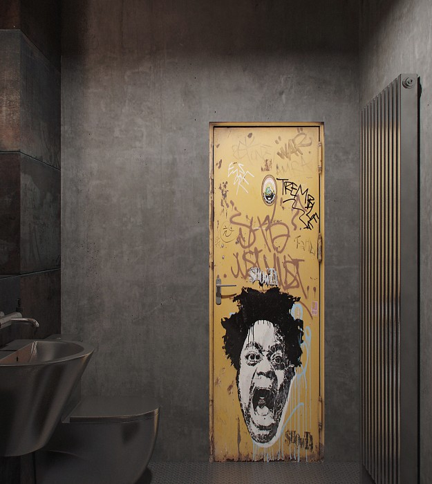 Den-Loft-Chic-loft-style-studio-by-Nordes-12