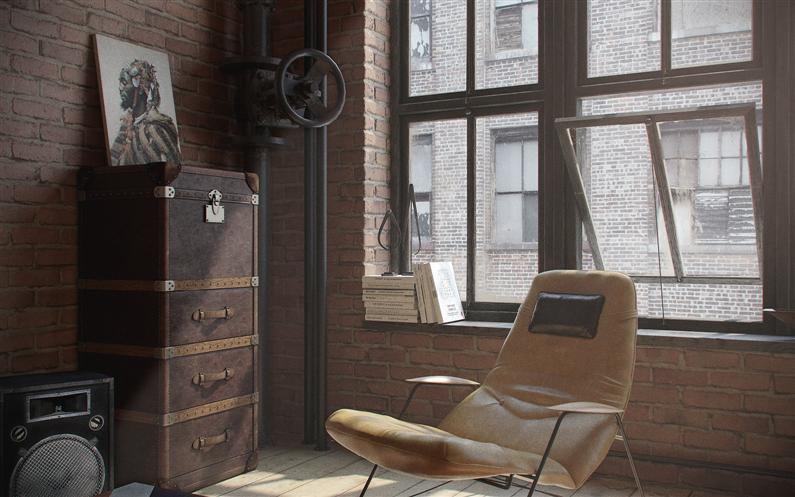 Den-Loft-Chic-loft-style-studio-by-Nordes-7-Custom