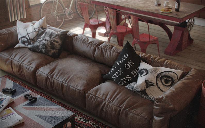 Den-Loft-Chic-loft-style-studio-by-Nordes-8-Custom