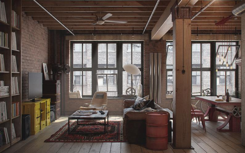Den-Loft-Chic-loft-style-studio-by-Nordes-9-Custom