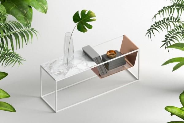 Perforé Side Table designed by Yunus Emre Uzun