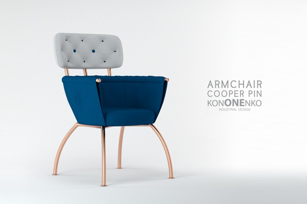 "Armchair ""Cooper Pin"" by Julia Kononenko"