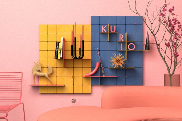 KUR!O: Minimalist & colorful shelving system