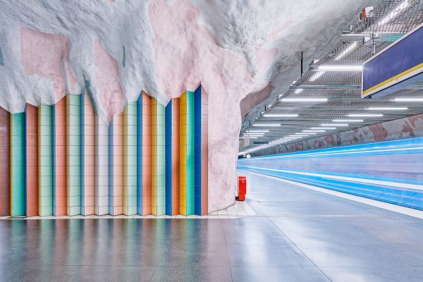 Stockholm metro stations by David Altrath