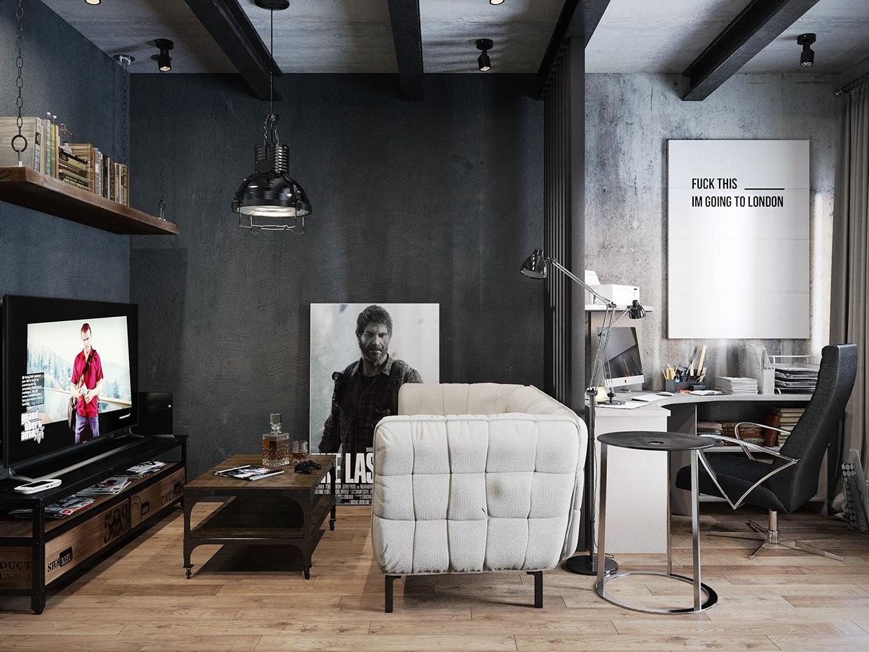 Superieur Modern Industrial Apartment By Denis Krasikov