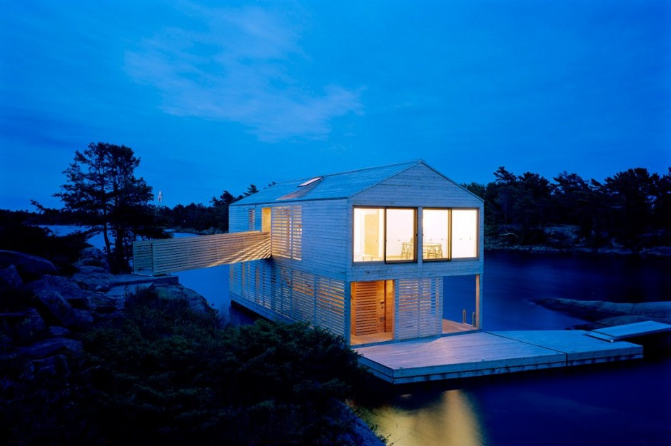 MOS Architects Designed The Floating House On Lake Huron In Ontario,  Canada. Photography By Florian Holzherr Good Ideas