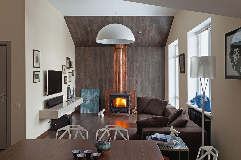 bro apartment by sergey makhno design. Black Bedroom Furniture Sets. Home Design Ideas