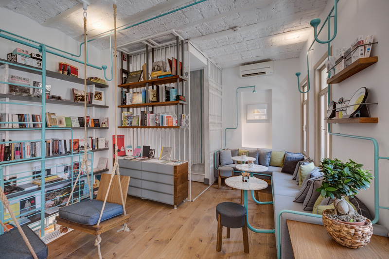 Fil books book store coffee shop in istanbul design for Books about interior design