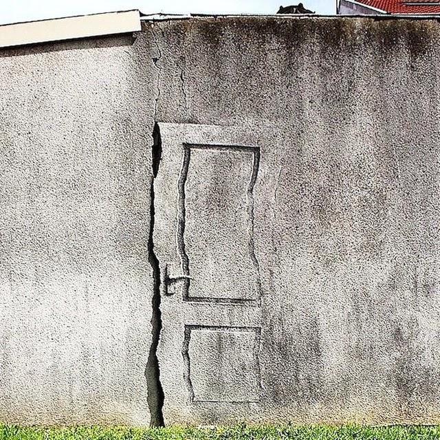 Another fantastic new piece from Pejac in Vitry-Sur-Seine, France #streetart #pejac @pejac_art