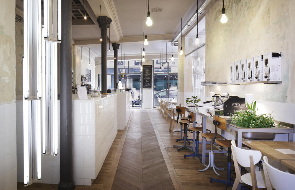 paris cafe coutume by cut architectures - White Cafe Design