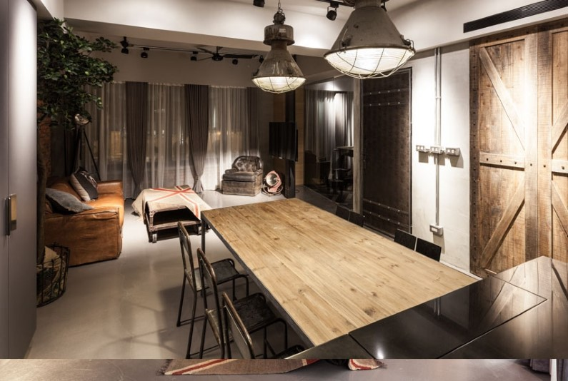 Industrial apartment in taipei design - Vintage industrial interior design ...