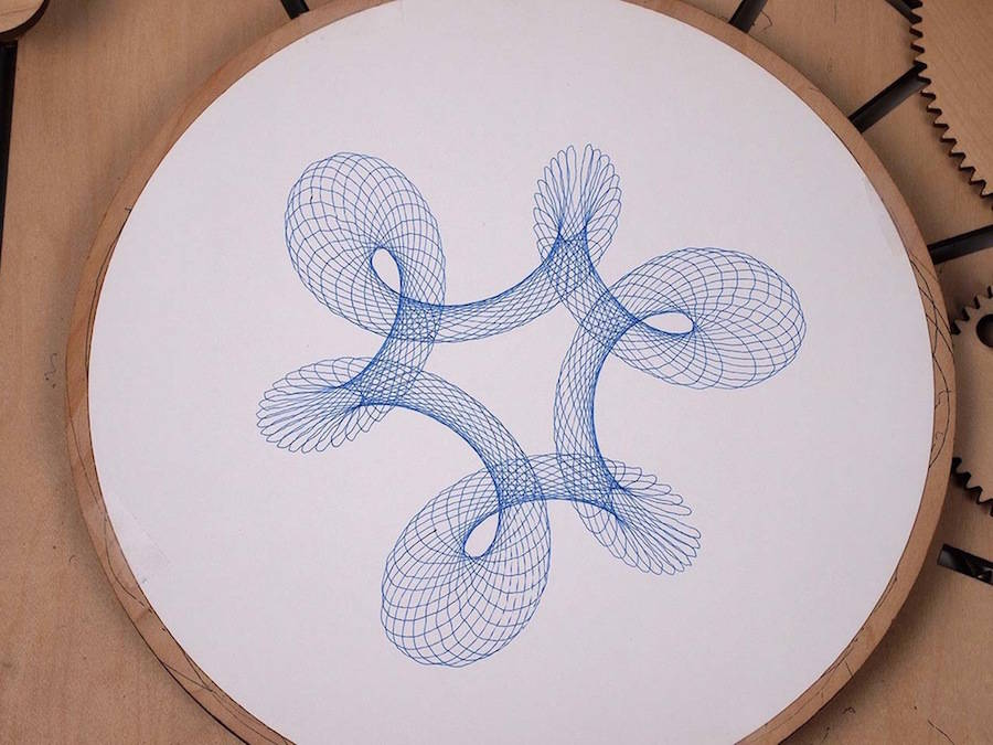Cycloid Drawing Machine by Joe Freedman | Design