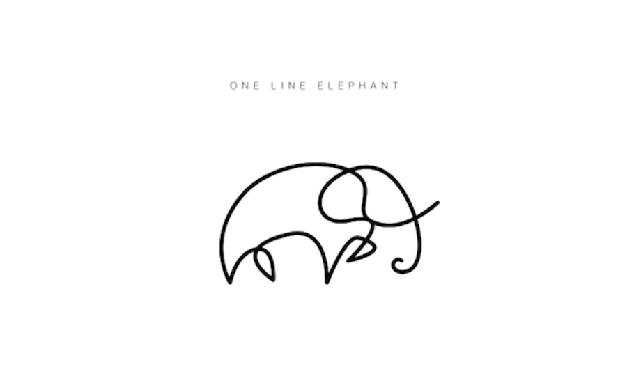 Line Art Animals Drawings : One line animals by differantly design