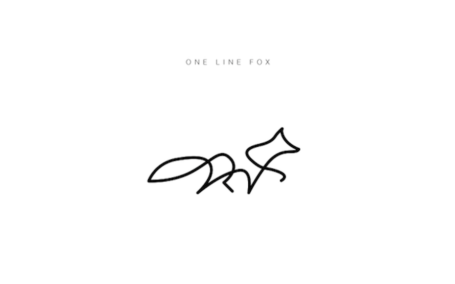 One Line Artwork : One line animals by differantly design