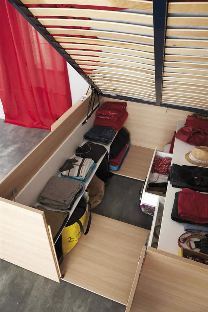 Space Up Bed With Storage From Parisot