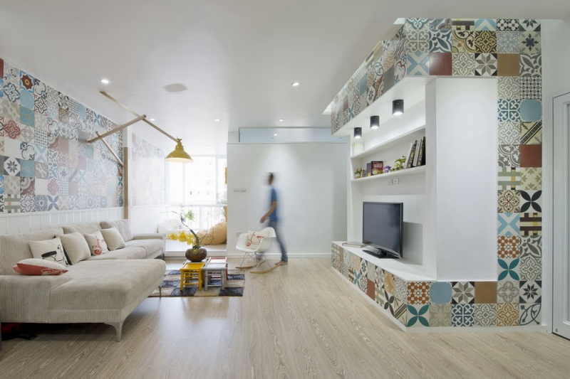 Ceramic-Tiles-Used-as-a-Decorative-Material-HT-Apartment-in-Vietnam-1