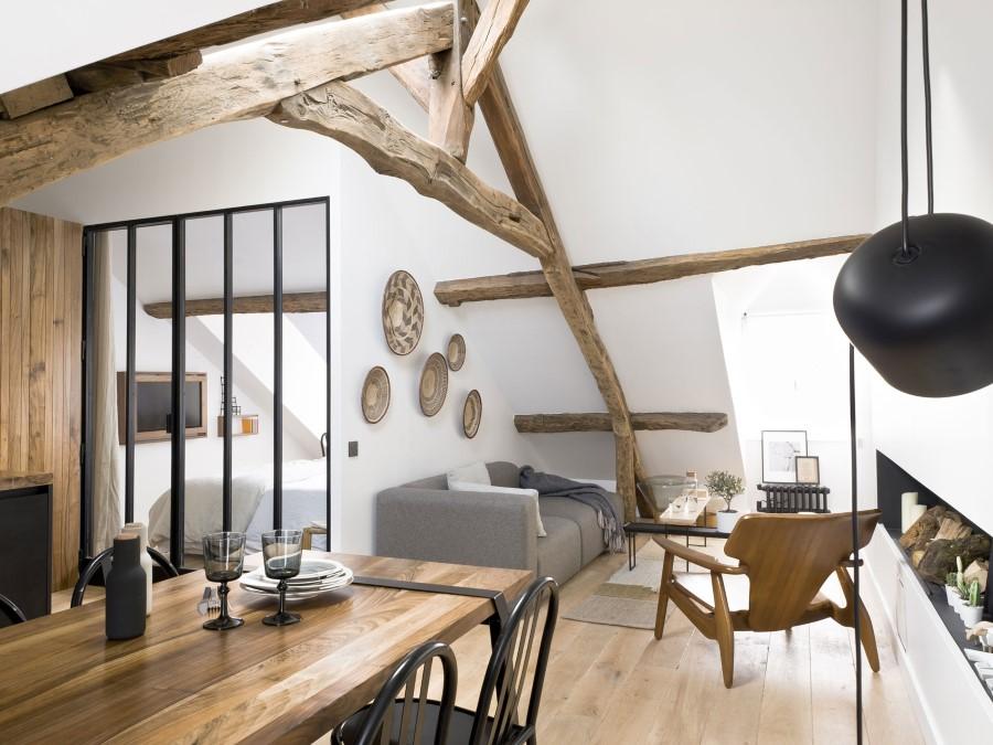 Saint-Paul-Apartment-18th-Century-Paris-Loft-Renovated-with-Eclectic-Charm-1
