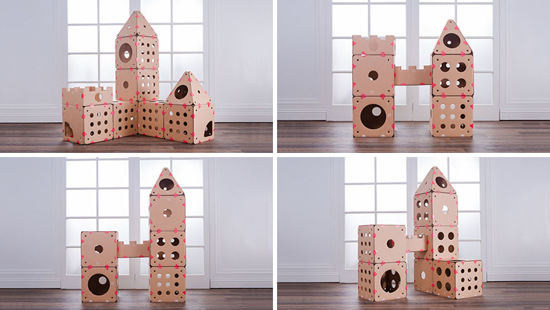 Using Simple Hook And Loop Tabs You Can Quickly Build Rebuild Cats Love To Play Relax In Box Kitty Even More Than Will Enjoy Building It