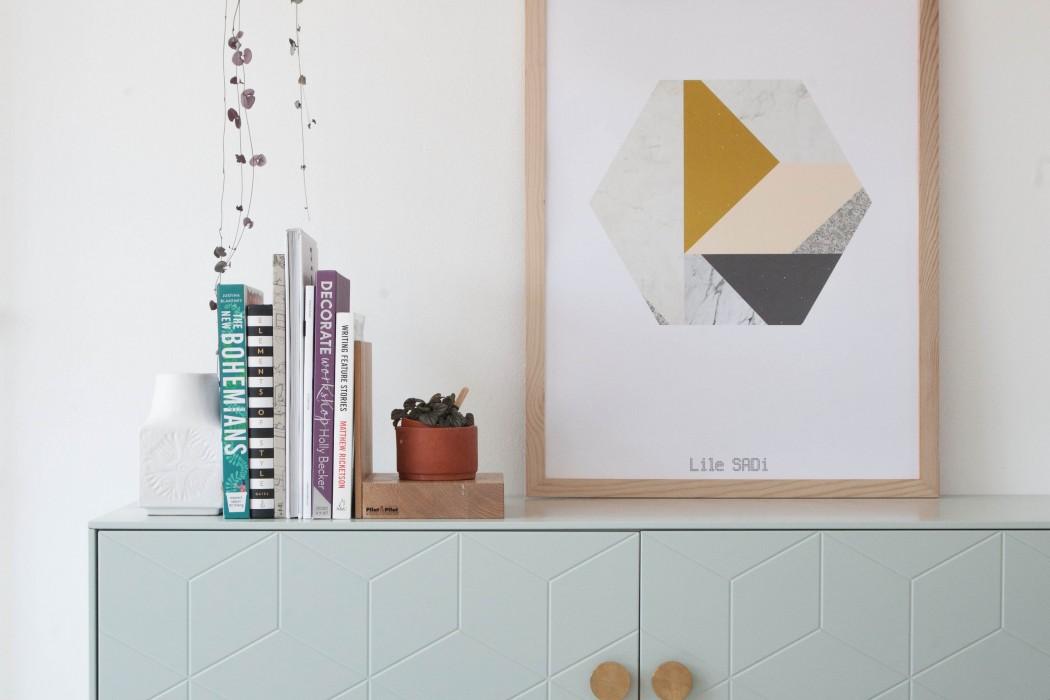 Poster Marble Hexagon