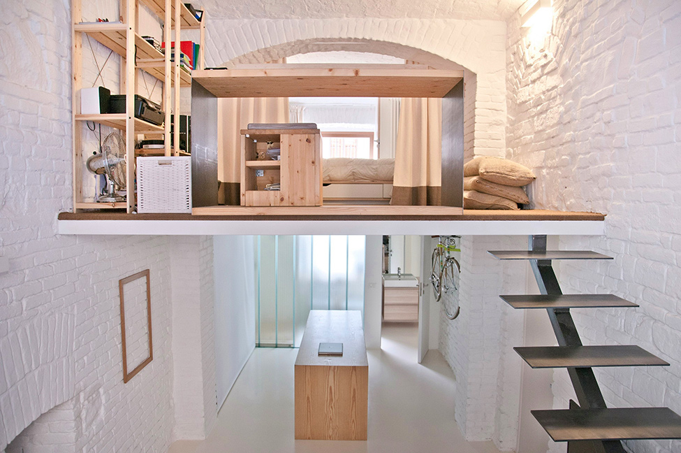 Studio Apartments Design shop transformed into loftr3architetti | design +