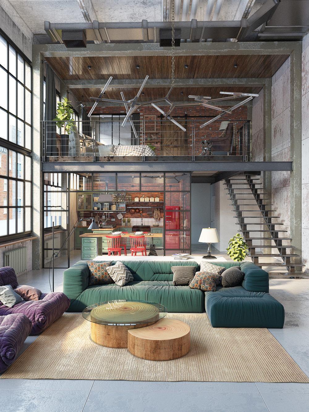Loft Design Industrial Loft By Golovach Tatiana Andrey Kot Design
