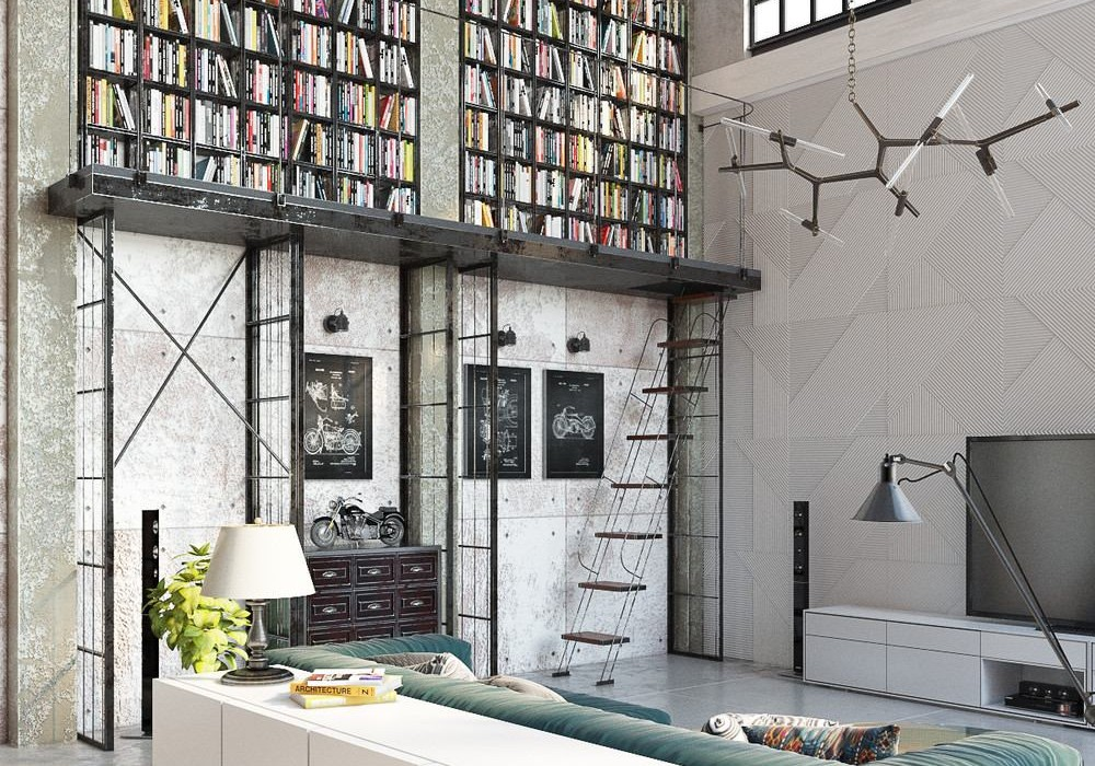 Architects worked on the design of a loft in downtown Budapest, Hungary.  The space area of 150 square meters is located in an old building from 1928.