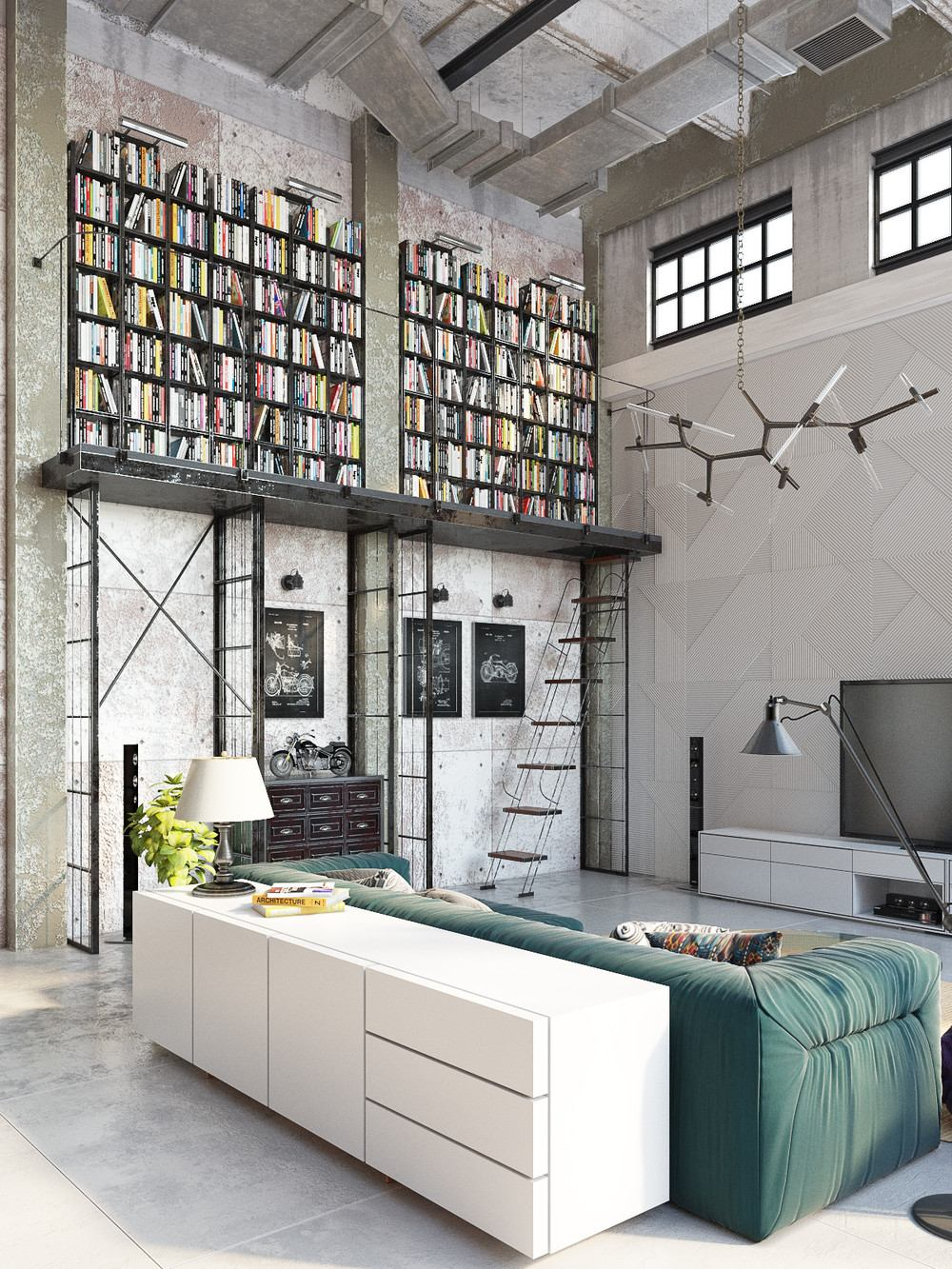 Industrial Loft by Golovach Tatiana & Andrey Kot | Design on Contemporary:kkgewzoz5M4= Small Bathroom Ideas  id=85200
