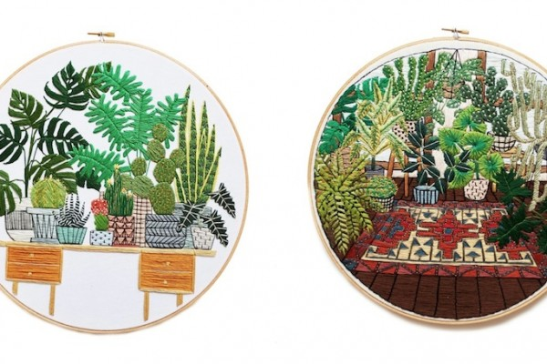 Hand Embroidered Works by Sarah K. Benning