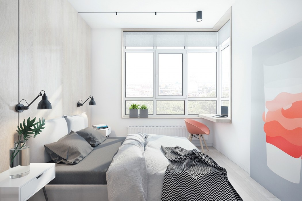 double-bed-indoor-plants-wall-art-windows