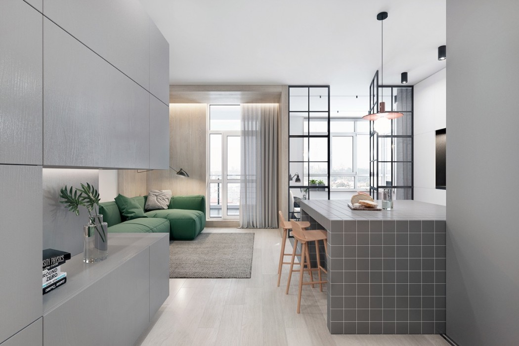 tiled-kitchen-island-wooden-shelf