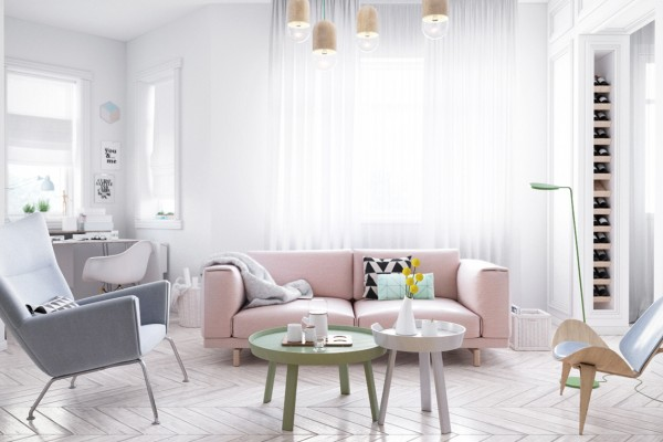 Scandinavian Style Interior by Pavel Pisanko