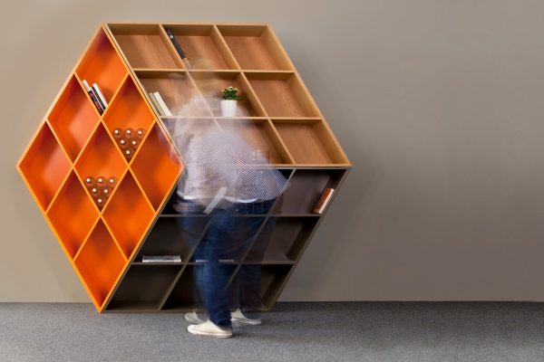 Rubika Bookcase designed by George Bosnas